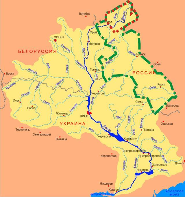 area of Dnepr