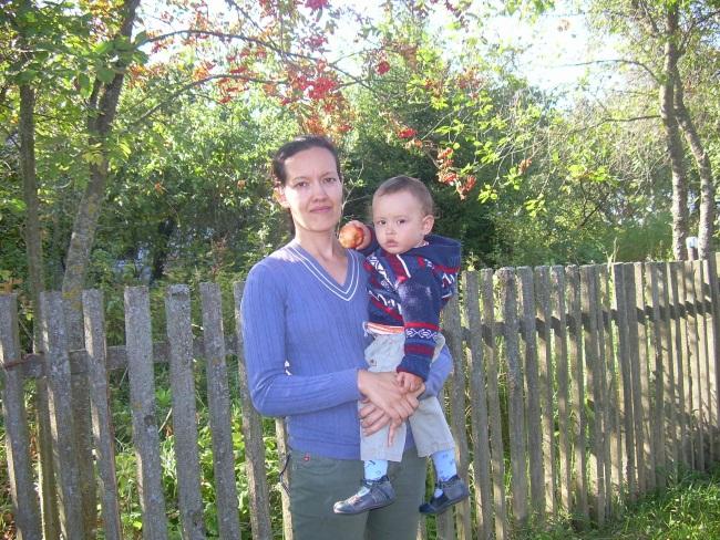 Ольга с сыном Ильей