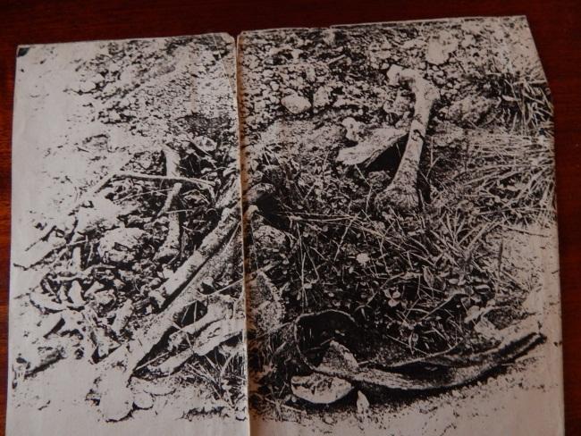 После раскопок братских могил (ксерокопия фото).