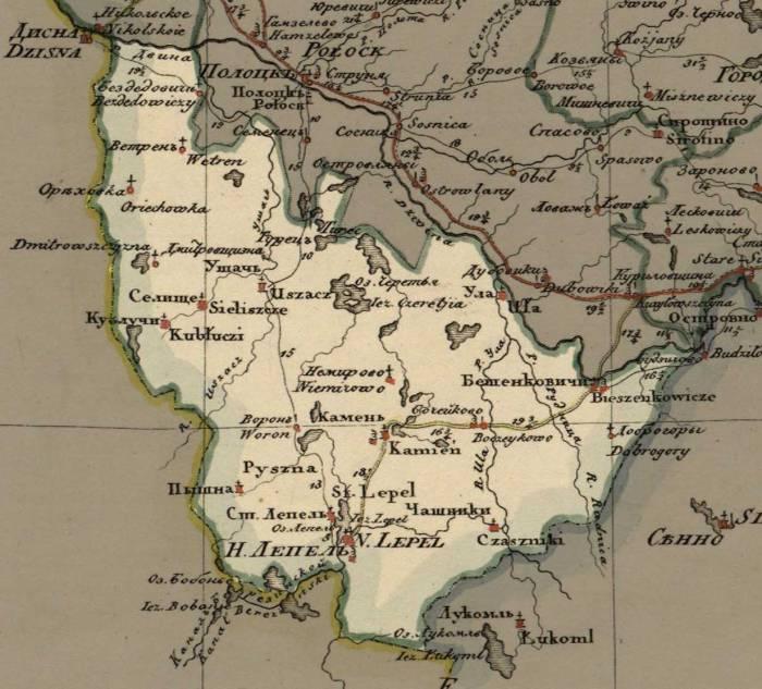 Лепель карта