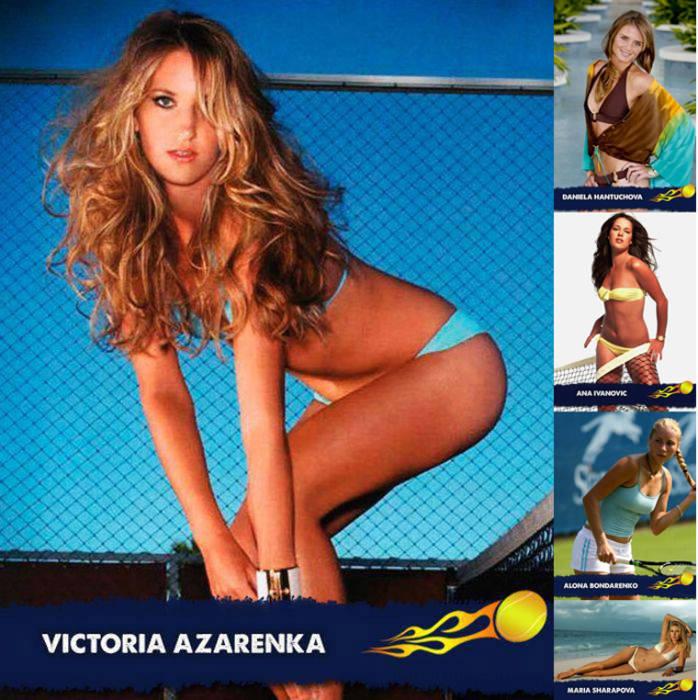 Участница US Open 2011 белоруска Виктория Азаренко, и несколько других славянок для сравнения