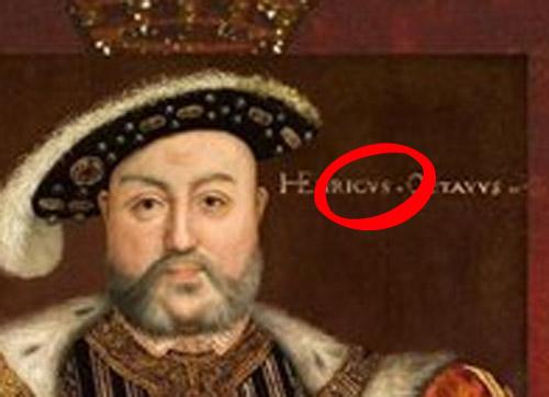 Вот, я из Викикпедии (кстати, как и остальные картинки) взял портретик Генриха, а там написано Генрикус Октавус
