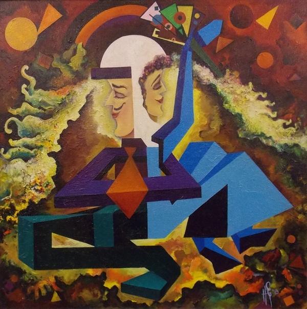 Наталья Ермолова. Свадьба. Триптих. Композиция 2
