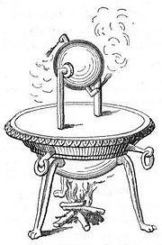 Древнегреческий паровой двигатель