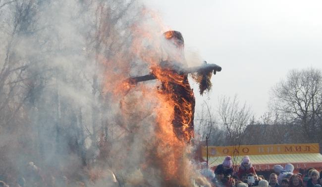 Сожжение Масленицы.