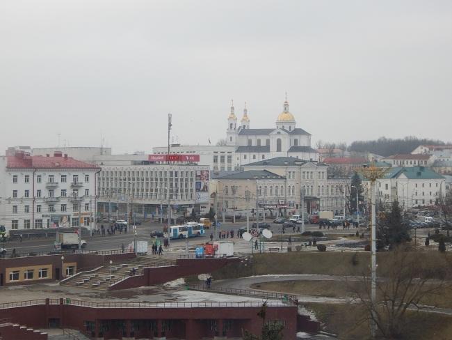 Вид на город с Духовской набережной.