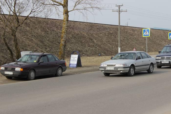Сейчас в городе можно часто встретить учебный автомобиль