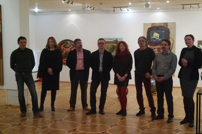 Творческое объединение m'ART (слева направо): С. Сотников, Л. Куленок, А. Демидов, А. Некрашевич, Е. Гурина, В. Концедайлов, О. Захаревич