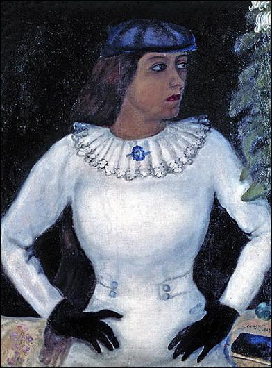 Белла в белых перчатках. Самая прекрасная женщина для Шагала.
