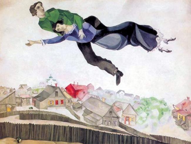 Над городом. Шагал и Белла были вместе и в горе, и в радости. Фото с сайта http://www.marc-chagall.ru/