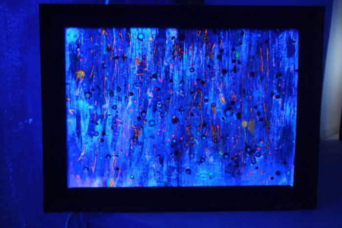 Картина, освещенная с помощью УФ-лампы