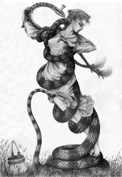 Современная иллюстрация к старинной легенде. Источник: www.liveinternet.ru/