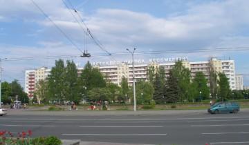 Площадь Победы времен СССР.