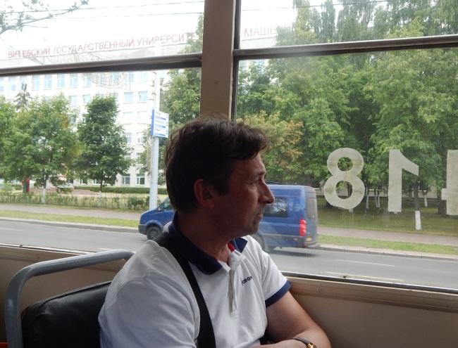 Из окна трамвая - Московский проспект.