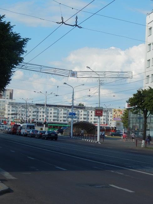 Начало проспекта. Вид на площадь Победы.