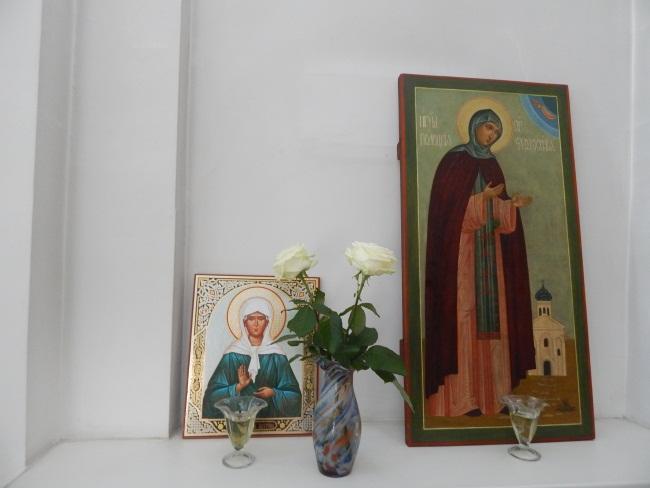 Икона святой Евфросинии в Успенском соборе.
