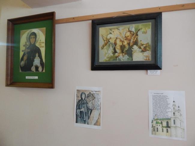 Картины, изображающие житие святой.