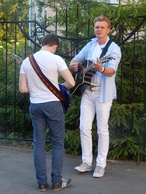 Анатолий Проценко и Евгений Гончаров перед выступлением.