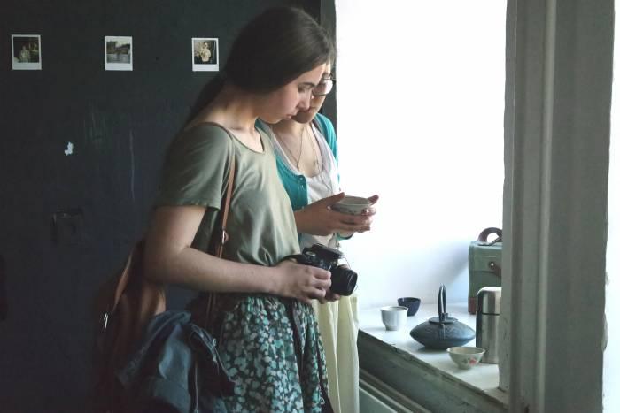 На выставке также можно было угоститься чаем