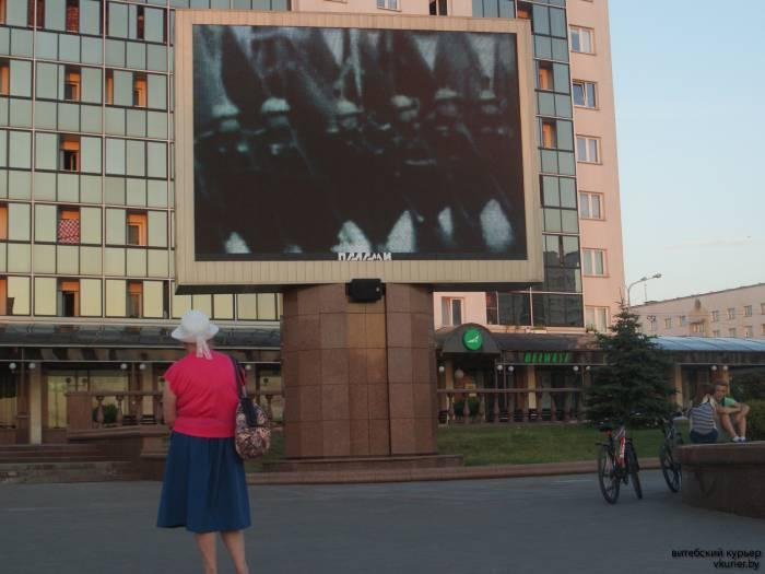 Кадры, наверно, одного из первых парадов, посвящённых окончанию Великой Отечественной войны
