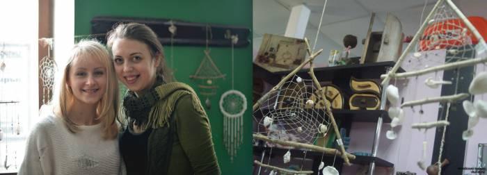 Катя Костюченко (и её ловцы снов) с Алёной Гембицкой