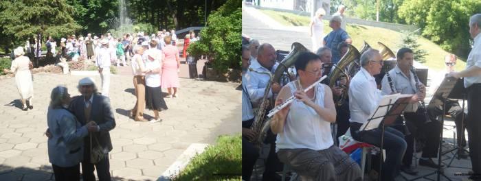 В городском саду играет духовой оркестр...
