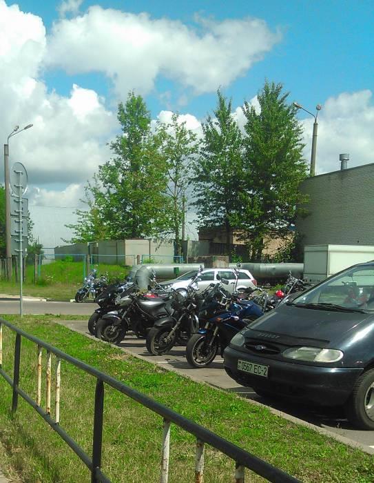 В этот день возле витебского ГАИ можно было увидеть множество мотоциклов