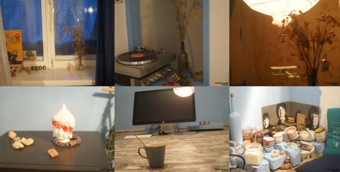 В квартире Александра царит дух творчества