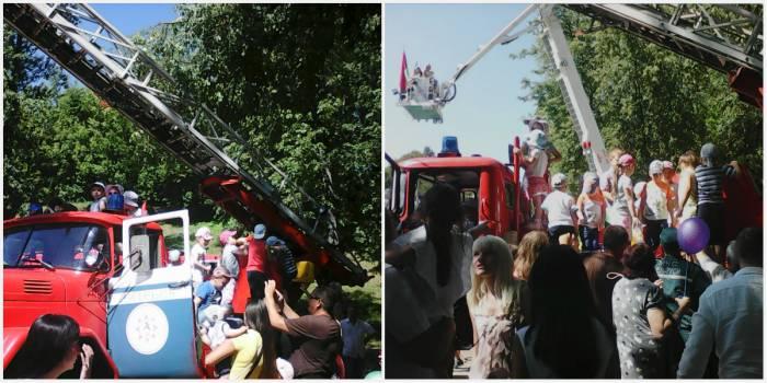 «Оккупация» пожарной автолестницы