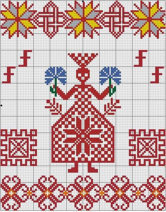 Схема вышивки «Берегиня