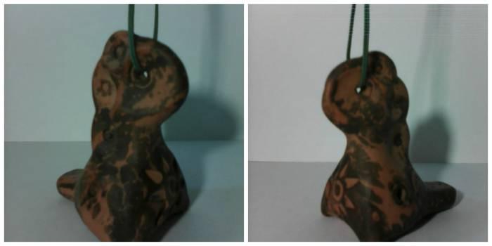 Подарок от четы Дашковых - рисунок на глине создан самим огнем при обжиге изделий в печи