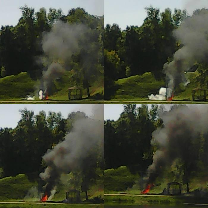 Второй источник возгорания сопровождался взрывами