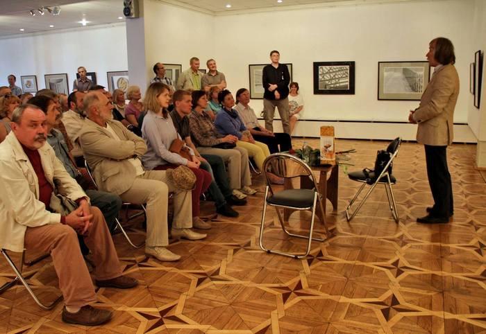 На адкрыцці выставы Рыгора Сітніцы ў Віцебскім цэнтры сучаснага мастацтва