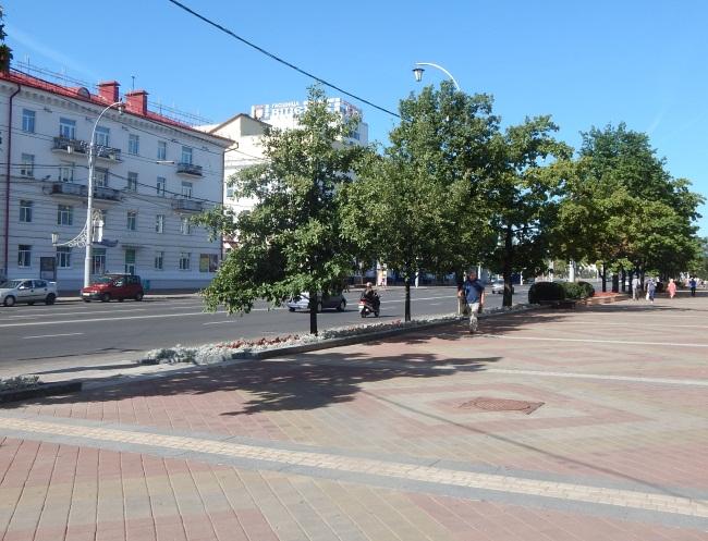 Улица Замковая в Витебске.