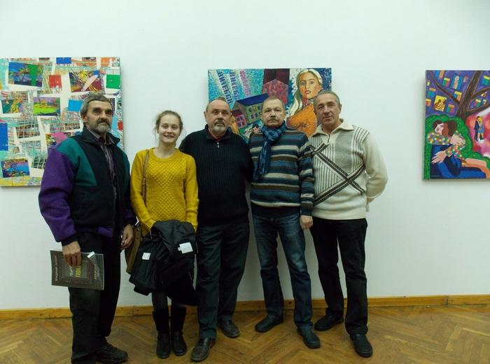 Олег Крошкин с коллегами в Арт-центре Марка Шагала