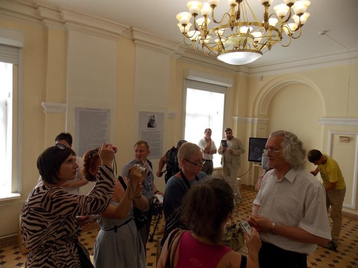 Уладзімір Пракапцоў на прэс-канферэнцыі з журналістамі