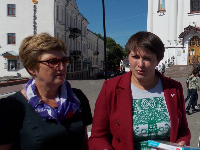 Лидия Сагидулина и Татьяна Короткевич в Витебске