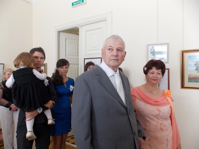 Анатолий и Людмила Швед на открытии выставки