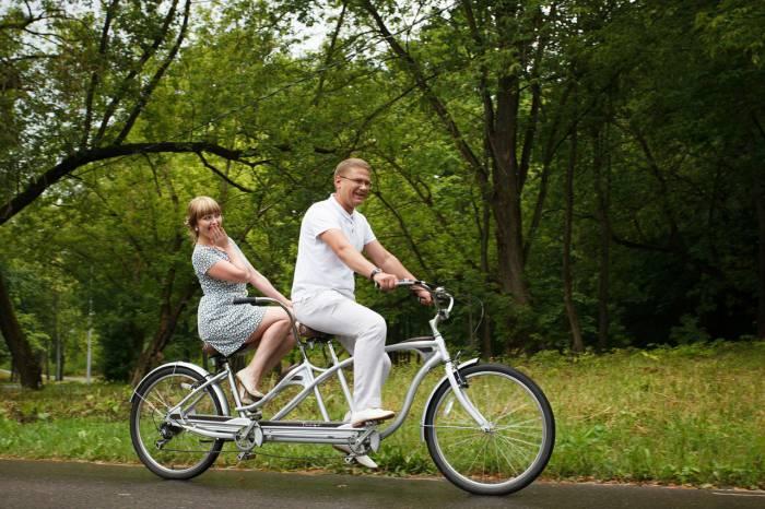 Велосипед для влюблённых. Фото прокат велосипедов Active