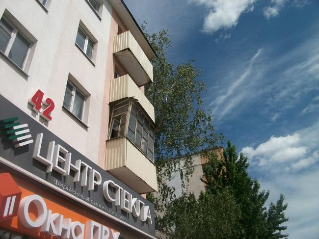Таким был балкон на Московском до публикации. Фото блоггера Аксинии.