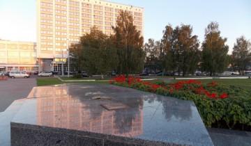 Постамент, на котором планируется возведение памятнику Александру Невскому