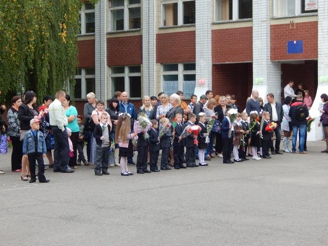 Мы впервые пришли в школу!