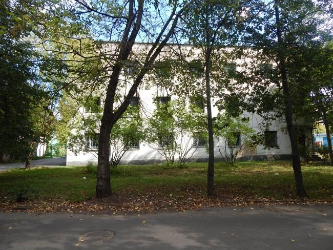 Здание железнодорожной санстанции.