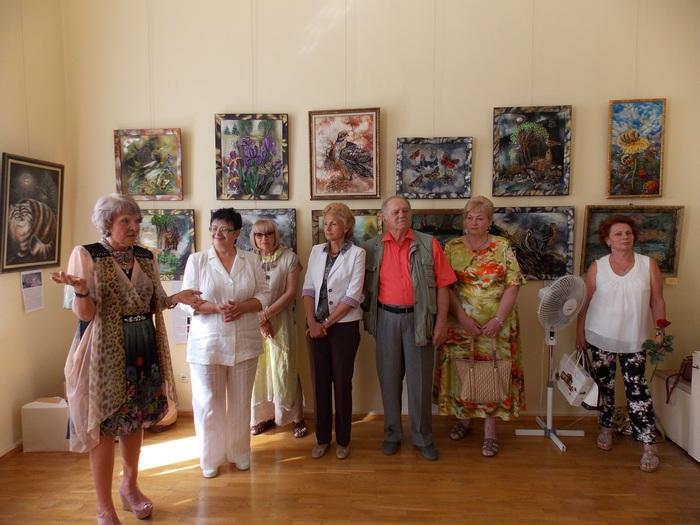 Татьяна Руденко на открытии выставки в Витебском художественном музее