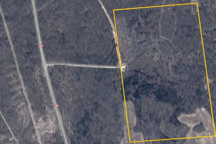На снимке из космоса оранжевым цветом обозначена территория, где будет размещаться мусороперерабатывающее предприятие