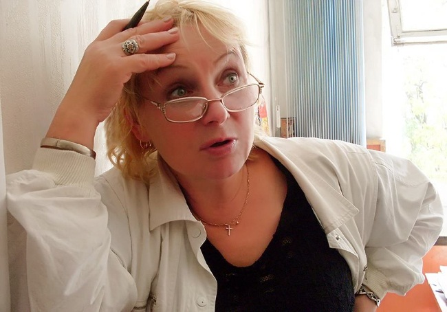 Вера Андреевна за работой. Фото Антона Степанищева