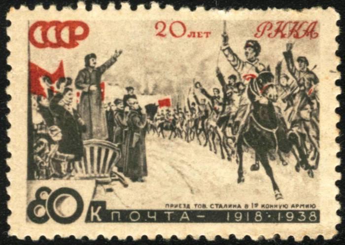20_let_RKKA._Priezd_tov._Stalina_v_1_Konnuyu_armiyu