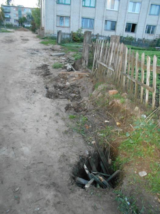 Дорога к жилым домам содержит несколько ловушек-капканов