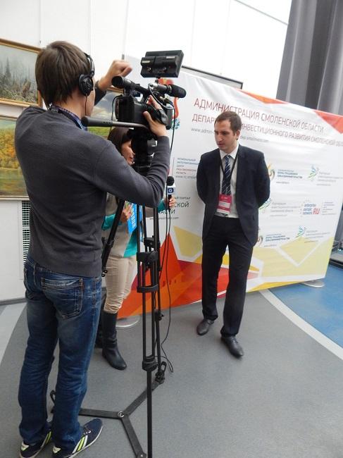 Ростислав Ровбель общается с витебскими журналистами