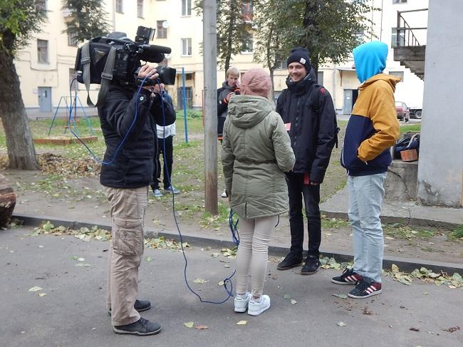 Глеб и Ян общаются с прессой